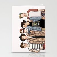 one direction Stationery Cards featuring One Direction by vulcains