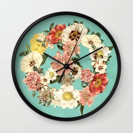 Botanica Peace sign Wall Clock