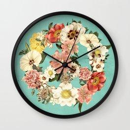 Botanica Peace sign Wall Clock