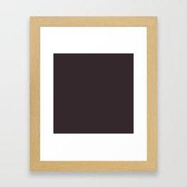 Solid Dark Charcoal Grey Color Framed Art Print