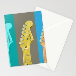 Guitars -  Strings -  Musical Instruments -  Colorful -  Music - Vintage illustration. Retro décor. Stationery Cards