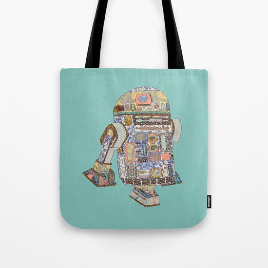 R2D2 Crashed Into A Flower Shop Tote Bag