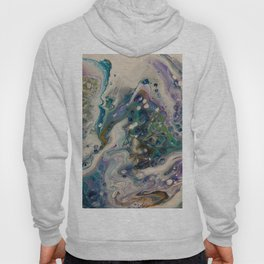 Peacock Flock - Abstract Acrylic Art by Fluid Nature Hoody