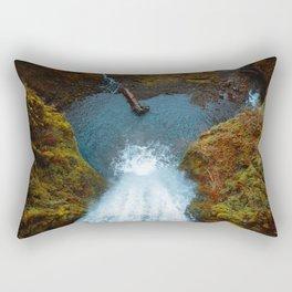 Multnommah Falls - Down View of the Waterfall Rectangular Pillow