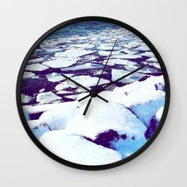 Snowy Waterfront Wall Clock