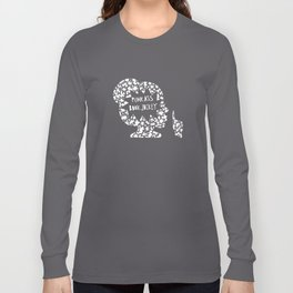 Punk Ass Book Jockey in Black and White Long Sleeve T-shirt