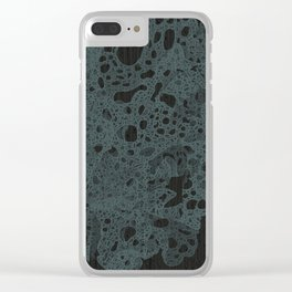 Dark Matter Clear iPhone Case