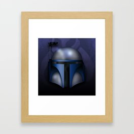Icon Series 1: (Far Far Away 3/3) Jango Fett's Hemet Framed Art Print