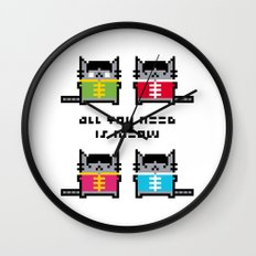 All You Need Is Meow Wall Clock