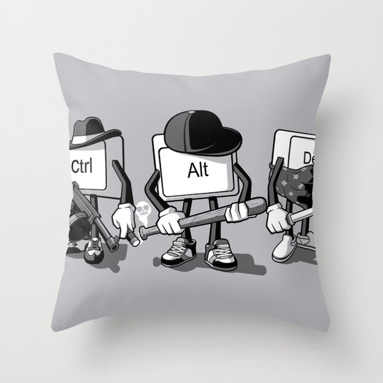 Computer Mafia Throw Pillow