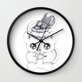 The Purrfect Meal Wall Clock