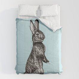 Blue Woodland Creatures - Rabbit Comforters