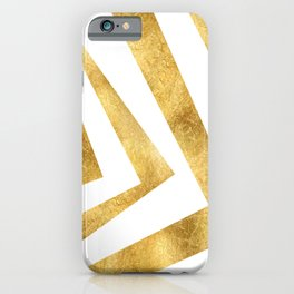 ART DECO VERTIGO WHITE AND GOLD #minimal #art #design #kirovair #buyart #decor #home iPhone Case