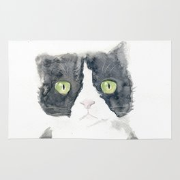 Thinking Cat Rug
