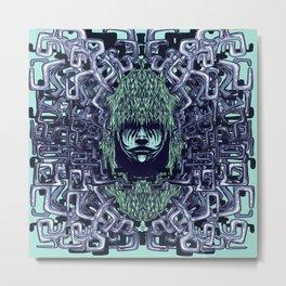 Boy with Labirinth Horns Metal Print