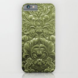 Celery Tooled Leather iPhone Case