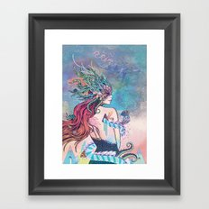 The Last Mermaid Framed Art Print