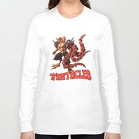 gnome Long Sleeve T-shirts featuring Gnome by Traaw