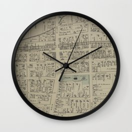 Vintage Map of Newark NY (1874) Wall Clock
