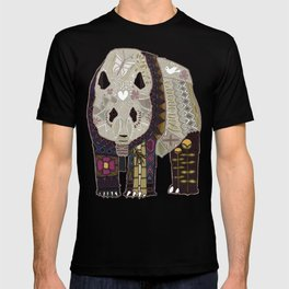 chocolate panda straw T-shirt