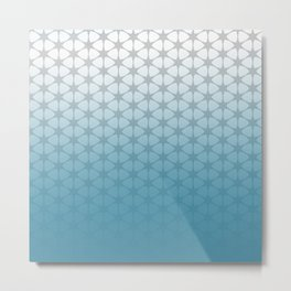 blue and grey pattern Metal Print