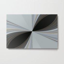 Brown and Grey Tones of Eucalyptus Swirl Pattern Metal Print