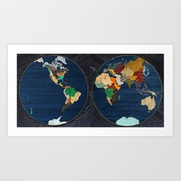Stone Globe Art Print