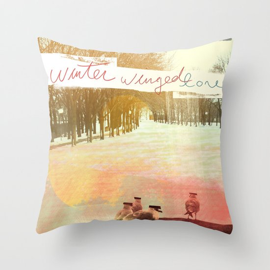 Without Care Like Birds Throw Pillow