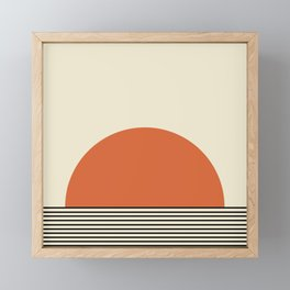 Sunrise / Sunset - Orange & Black Framed Mini Art Print