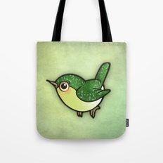 Cute Green Bird Tote Bag
