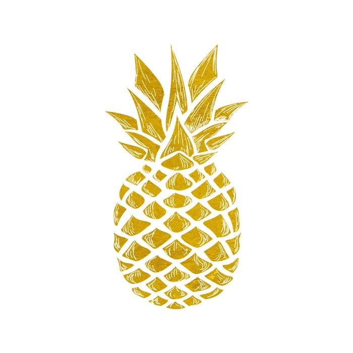 Gold Pineapple Duvet Cover By Jennadavis Society6