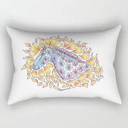 """""""Horse On Fire"""" Rectangular Pillow"""