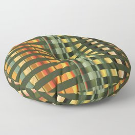 Pattern rectangle color multi I Floor Pillow