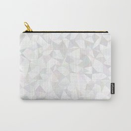White triangle mosaic Carry-All Pouch