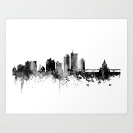 Cedar Rapids Iowa Skyline Art Print