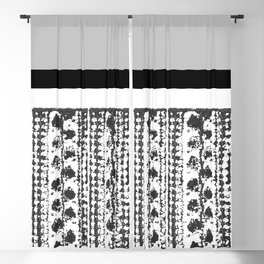 Colorblock Leaves Blackout Curtain