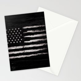 American flag White Grunge Stationery Cards
