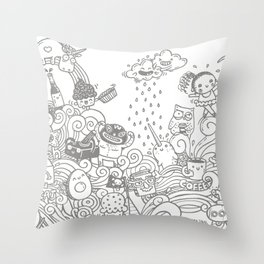 walmazan world Throw Pillow