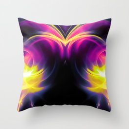 abstract fractals mirrored reaclsh Throw Pillow