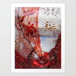 Vibration in red Art Print