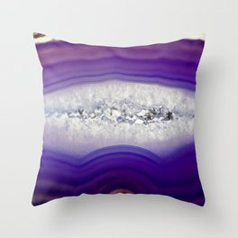 Purple Agate Throw Pillow