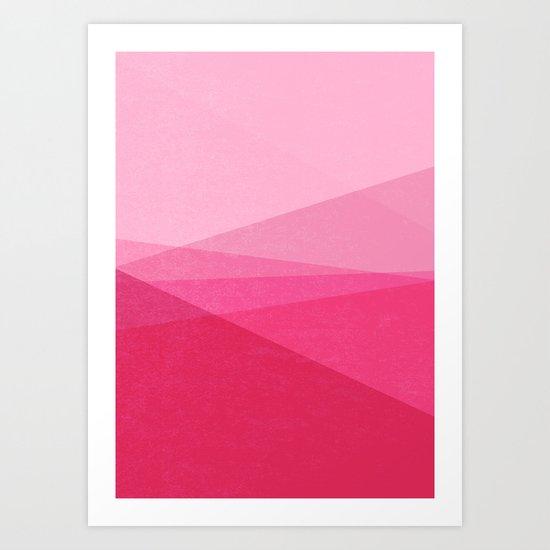Stripe XI Cotton Candy Art Print