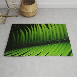 Palm tree leaf - tropical decor Rug