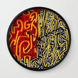 Laberinto red black Wall Clock
