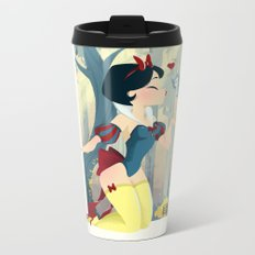 Snow White Pin Up Metal Travel Mug