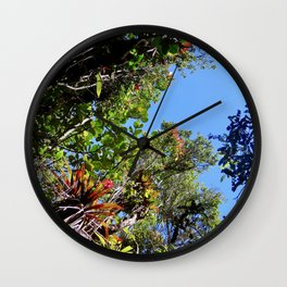 Flowers, Trees, and Sky Wall Clock