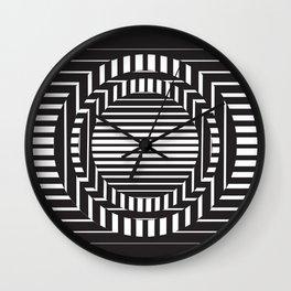 Blackwhite art illusion Wall Clock