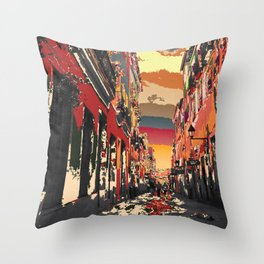 Pelourinho's Alley Throw Pillow