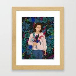 Lana in the jungle Framed Art Print