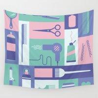 school Wall Tapestries featuring Beauty School by Ariel Wilson